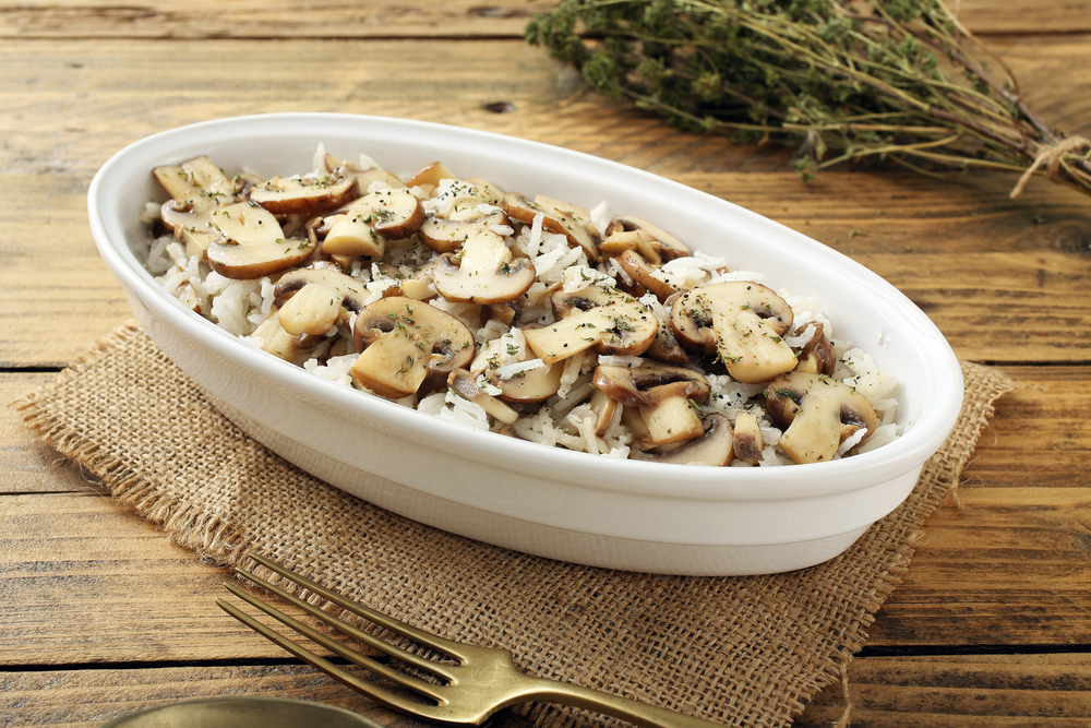 orez cu ciuperci la cuptor