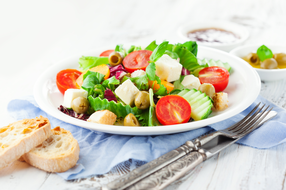 salata vegetariana deschidere