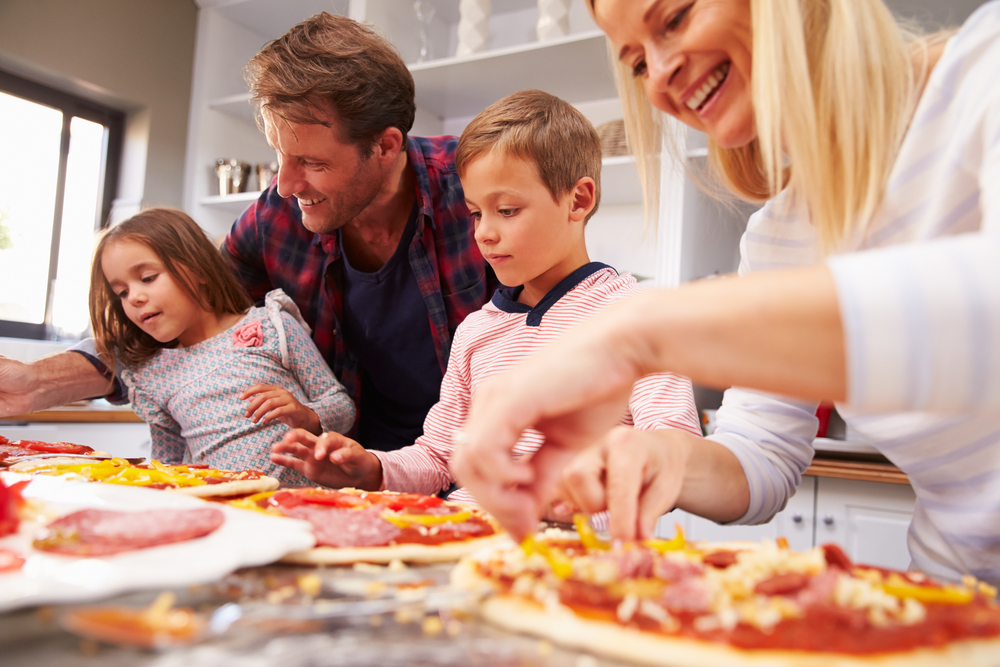 Family,Making,Pizza,Together