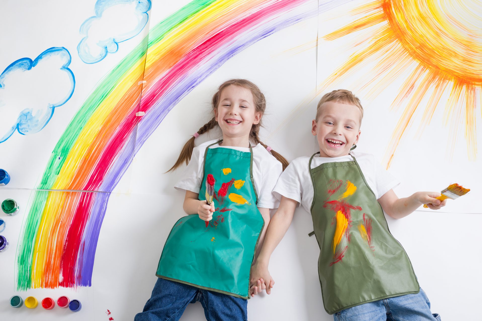 Kids,Painting,Rainbow