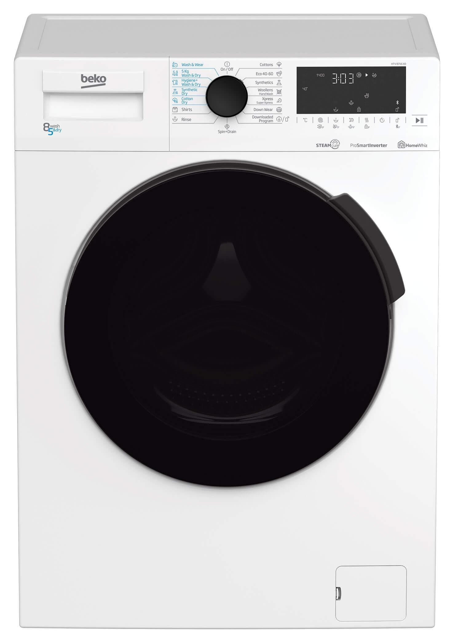 Masina de spalat rufe cu uscator Beko HTV8716X0