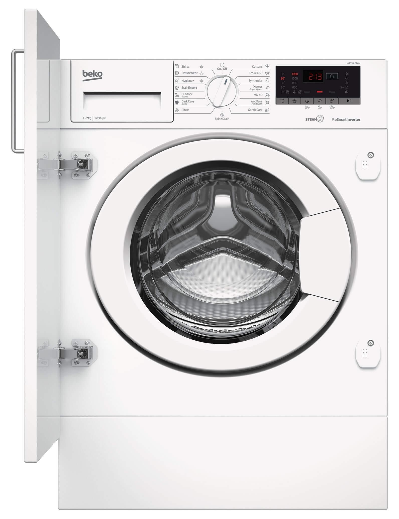 Masina de spalat rufe incorporabila Beko WITC7612B0W (NOU 2020)